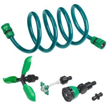 3in1-Gartendusche, Rasensprinkler & Wassernebler, fixierbarer Schlauch