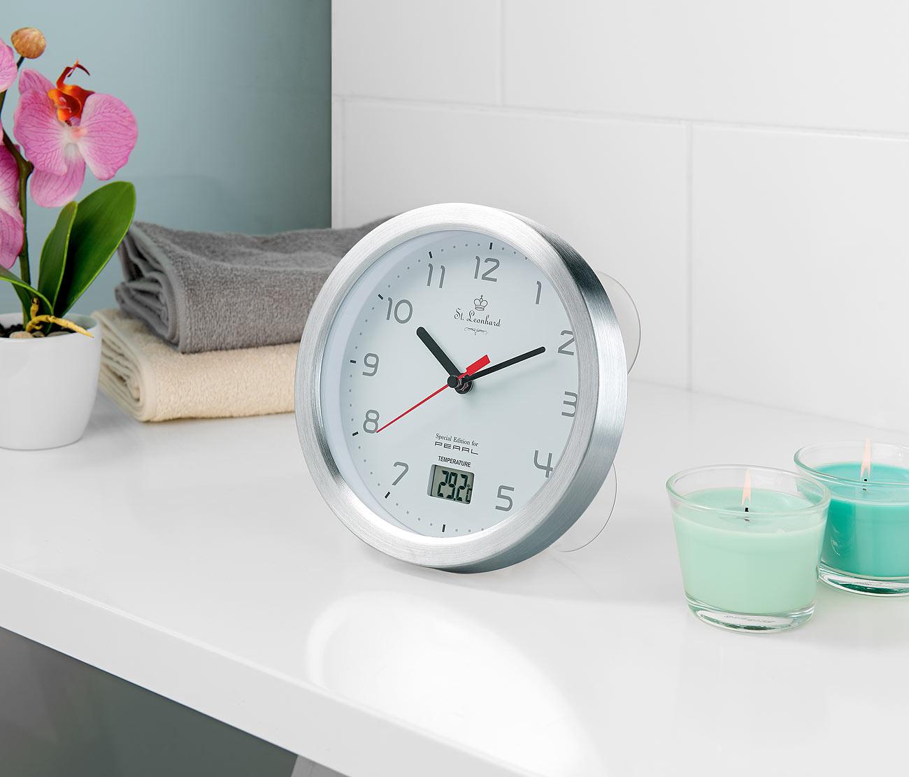 PEARL   Ihr Elektronik Versand in der Schweiz   Badezimmer Wanduhr ...
